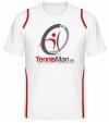 Tennisman Cooltex Tennis T-Shirt - weiss/rot