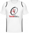 Tennisman Cooltex Tennis T-Shirt - weiss/schwarz