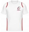 Tennisman Cooltex Tennis T-Shirt weiss/rot