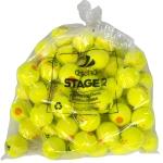 Tennisbälle - DISCHO STAGE 2 - gelb mit orangem Punkt - 60 Bälle im Polybag
