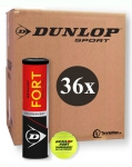 Tennisbälle - 36 x 4er Dose - Dunlop Fort Tournament DTB Official 2019
