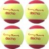Tennisbälle - DISCHO Funny START - Methodik - Stage 3 - 4 Bälle im Polybag - gelb/rot