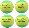 Tennisbälle - DISCHO Funny Tour - Methodik - Stage 1 - gelb/grün - 4 Bälle im Polybag