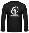 Tennisman-Longsleeve - schwarz