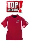 Discho Tennis T-Shirt Fancy - rot/weiss