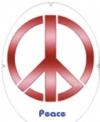 Tourna- Fun Racketschablone- Peace