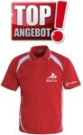 Discho Tennis Polo-Shirt Fancy - rot/weiss