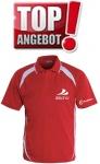 Discho Tennis Polo-Shirt Fancy - rot/weiss