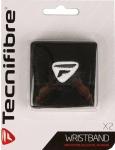 Tecnifibre - Schweißband im 2er Blister - schwarz