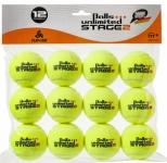Tennisbälle - Balls Unlimited Stage 2 Tournament 12er Pack