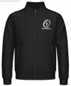 Tennisman-Sweat Jacket - schwarz