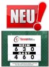 Neu! Tennis Scorer Kompakt Tennisman BEIDSEITIG - Größe 80 x 60
