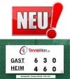 Neu! Tennis Scorer LARGE Tennisman - Größe 120 x 60