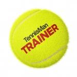 Tennisbälle - TENNISMAN TRAINER (Deluxe) - 72 Bälle im Polybag - gelb