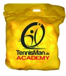 Tennisbälle - TENNISMAN ACADEMY - 72 Bälle im Polybag