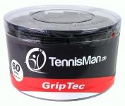 TennisMan - GripTec - Überband (Overgrip) schwarz - 30 Stck.