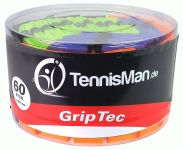 TennisMan - GripTec - Überband (Overgrip) bunt - 10 Stck.