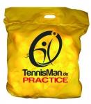Tennisbälle - TENNISMAN PRACTICE - 60 Bälle im Polybag