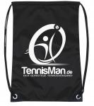 Schuhsack - TennisMan- schwarz/weiß