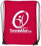 Schuhsack - TennisMan- rot/weiß