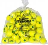 Tennisbälle - TENNISMAN STAGE 1 gelb mit grünem Punkt - 60er Pack