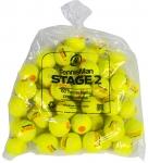 Tennisbälle - TENNISMAN STAGE 2 gelb mit orangen Punkt - 60er Pack