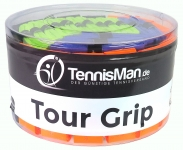 TennisMan - Tour Grip - Überband (Overgrip) bunt - 30 Stck.