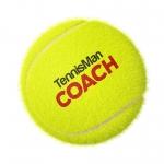 Tennisbälle - TENNISMAN COACH - 72 Bälle im Polybag - gelb