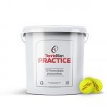 Tennisbälle - TENNISMAN PRACTICE - 72 Bälle im Eimer