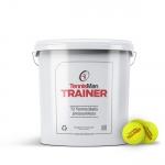 Tennisbälle - TENNISMAN TRAINER (Deluxe) - 72 Bälle im Eimer - gelb