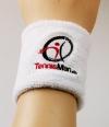 Tennisman - Schweissband - Wristband -weiß