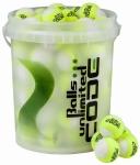 Tennisbälle - Balls Unlimited Code Green - gelb/weiß - 60 Bälle im Eimer