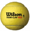 Tennisbälle- Wilson - Tour CLAY RED - 3er Dose