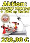 Bespannungsmaschine: DISCHO-Veritas OR + 200 m DISCHO Gold Spin