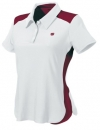 Wilson - Short Sleeve Polo - weiß/dunkelrot