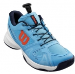 Tennisschuhe - Wilson - RUSH PRO QL - bonnie blue/white/tangerine - Junior (2020)