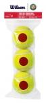 Tennisbälle - Wilson - Roland Garros Red Transition Balls - 3er Pack (2020)