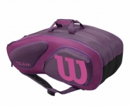 Tennistasche- Wilson - Team II 12 Pack Bag- plum-2016
