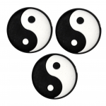 Vibrastop- Discho - Yin und Yang - schwarz/weiß - 3 Stck.