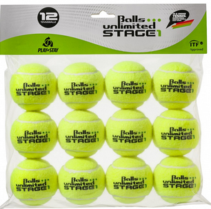 tennisb lle balls unlimited stage 1 yellow yellow 12er beutel online kaufen. Black Bedroom Furniture Sets. Home Design Ideas